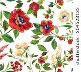 illustration for textile ... | Shutterstock . vector #304523132