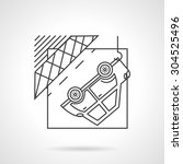 flat line style vector icon for ... | Shutterstock .eps vector #304525496