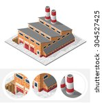 isometric high quality city... | Shutterstock .eps vector #304527425