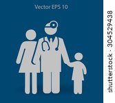 family practice vector... | Shutterstock .eps vector #304529438