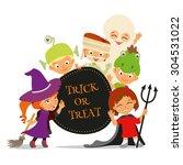 trick or treat. happy halloween ... | Shutterstock .eps vector #304531022