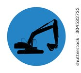 excavator work.  illustration  | Shutterstock . vector #304532732