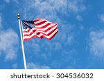 American Flag With Beautiful...