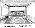 sketch of interior | Shutterstock .eps vector #304539905
