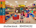 a vector illustration of kids... | Shutterstock .eps vector #304554152