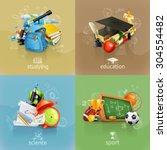 school concepts  vector set   Shutterstock .eps vector #304554482