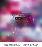 bright pink cosmic fashion... | Shutterstock .eps vector #304557662