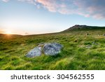 the slopes of rough tor on... | Shutterstock . vector #304562555