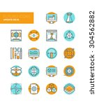 line icons with flat design... | Shutterstock .eps vector #304562882