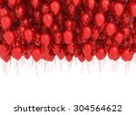 background of red balloons...   Shutterstock . vector #304564622