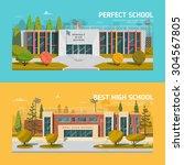 educate theme vector collection | Shutterstock .eps vector #304567805