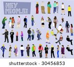 people collection   vector... | Shutterstock .eps vector #30456853