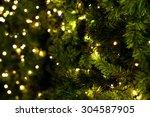 Christmas Tree On Blurred...