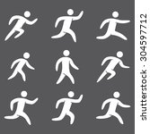 silhouettes figures set of... | Shutterstock .eps vector #304597712