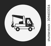 cargo truck icon | Shutterstock .eps vector #304603316