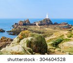 La Corbiere Lighthouse And Huge ...