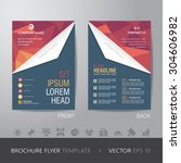polygon business brochure flyer ... | Shutterstock .eps vector #304606982