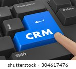 crm   business concept. button... | Shutterstock . vector #304617476