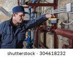 maintenance repairman engineer... | Shutterstock . vector #304618232
