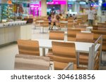 tables and chairs on food court ... | Shutterstock . vector #304618856