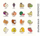 Fruit Icon Collection   Vector...
