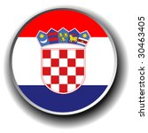 croatia flag icon   vector...