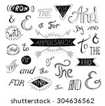 vintage style hand lettered ... | Shutterstock .eps vector #304636562