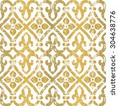 seamless floral tiling pattern. ... | Shutterstock .eps vector #304638776