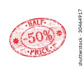 red grunge rubber stamp with... | Shutterstock .eps vector #30464917