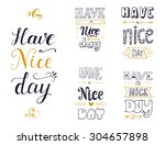 hand drawn quote collection... | Shutterstock .eps vector #304657898