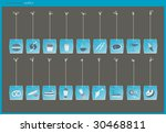 gastronomy labels | Shutterstock .eps vector #30468811