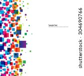 overlapping squares with... | Shutterstock .eps vector #304690766