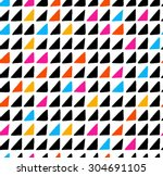 watercolor modern pattern with... | Shutterstock .eps vector #304691105