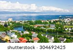 partial view of the city of... | Shutterstock . vector #304692425