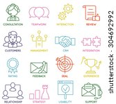vector set of linear customer... | Shutterstock .eps vector #304692992