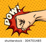 fist hitting  fist punching in... | Shutterstock .eps vector #304701485