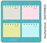 sweet recipe vector card... | Shutterstock .eps vector #304709822