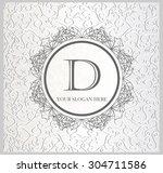 calligraphic monogram emblem... | Shutterstock .eps vector #304711586