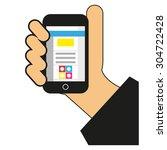 phone illustration  | Shutterstock .eps vector #304722428