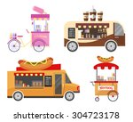 street food and fast food... | Shutterstock .eps vector #304723178