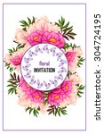 wedding invitation cards with... | Shutterstock .eps vector #304724195