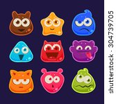 cute jelly characters with...