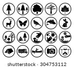 set of nature signs. collection ...