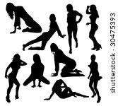 vector illustration of dancing... | Shutterstock .eps vector #30475393
