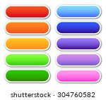 set of blank buttons with place ... | Shutterstock .eps vector #304760582