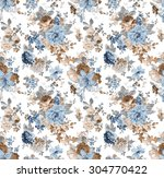 Stock photo seamless floral pattern 304770422