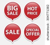 red sale bubble tags   Shutterstock .eps vector #304771382