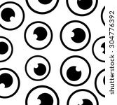 cartoon eyes seamless pattern. | Shutterstock .eps vector #304776392