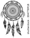dreamcatcher  vector... | Shutterstock .eps vector #304778918