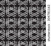 abstract geometric monochrome... | Shutterstock .eps vector #304781162